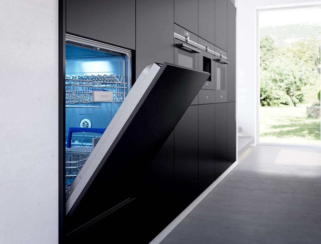 Image of Siemens integrated dishwasher Interiors InsideOut