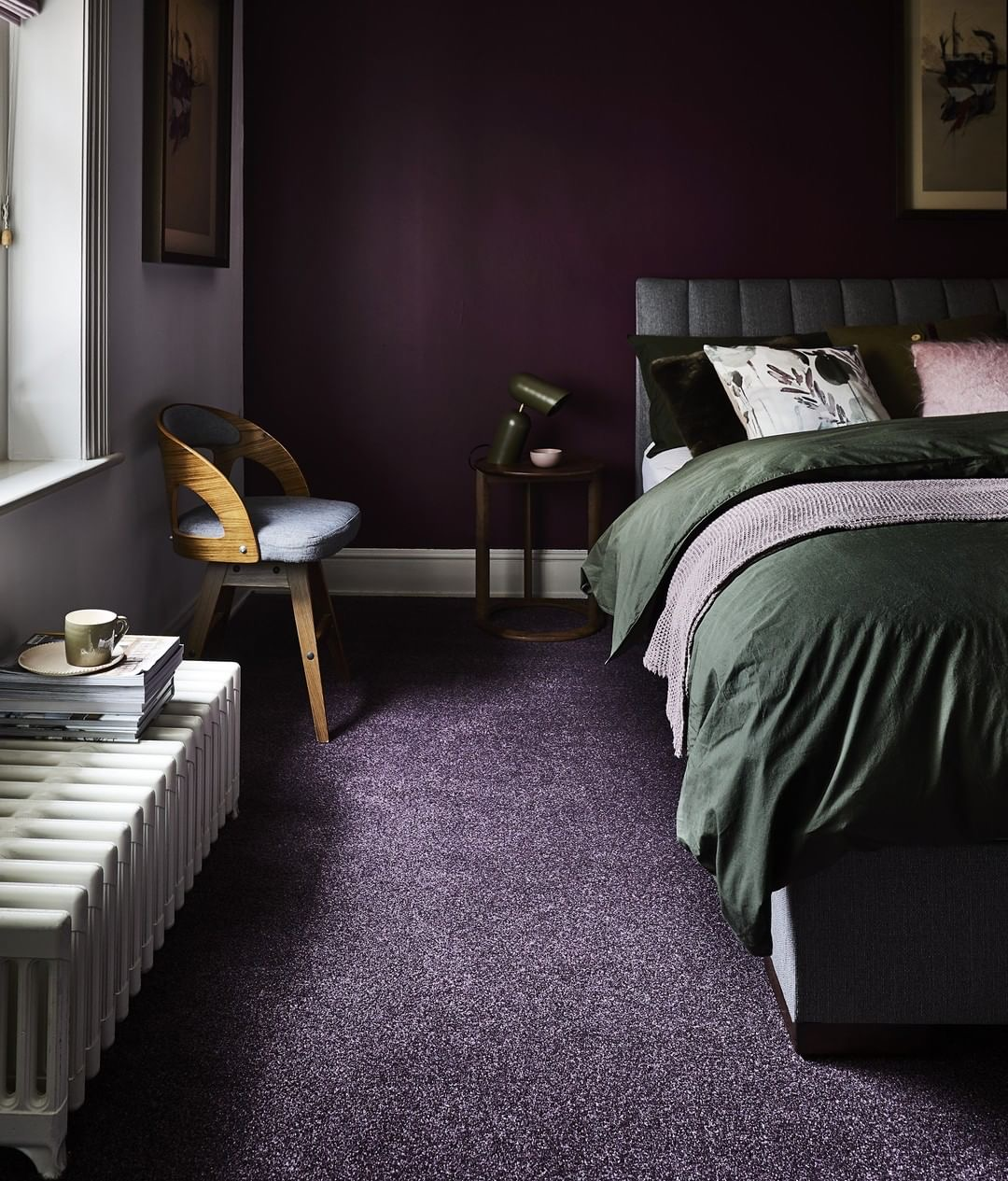 Image of Flynn Saxony Carpet in Amethyst from Carpetright