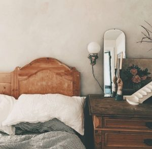 Image of eco-friendly paint in a bedroom by @readandhall