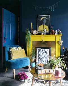 Image of painted mantlepiece by @redfoxhome