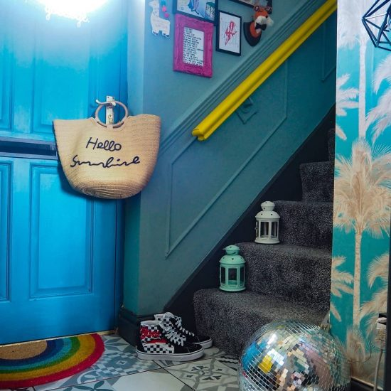 Image of leftover paint used as a budget update by @eclecticfoxhome