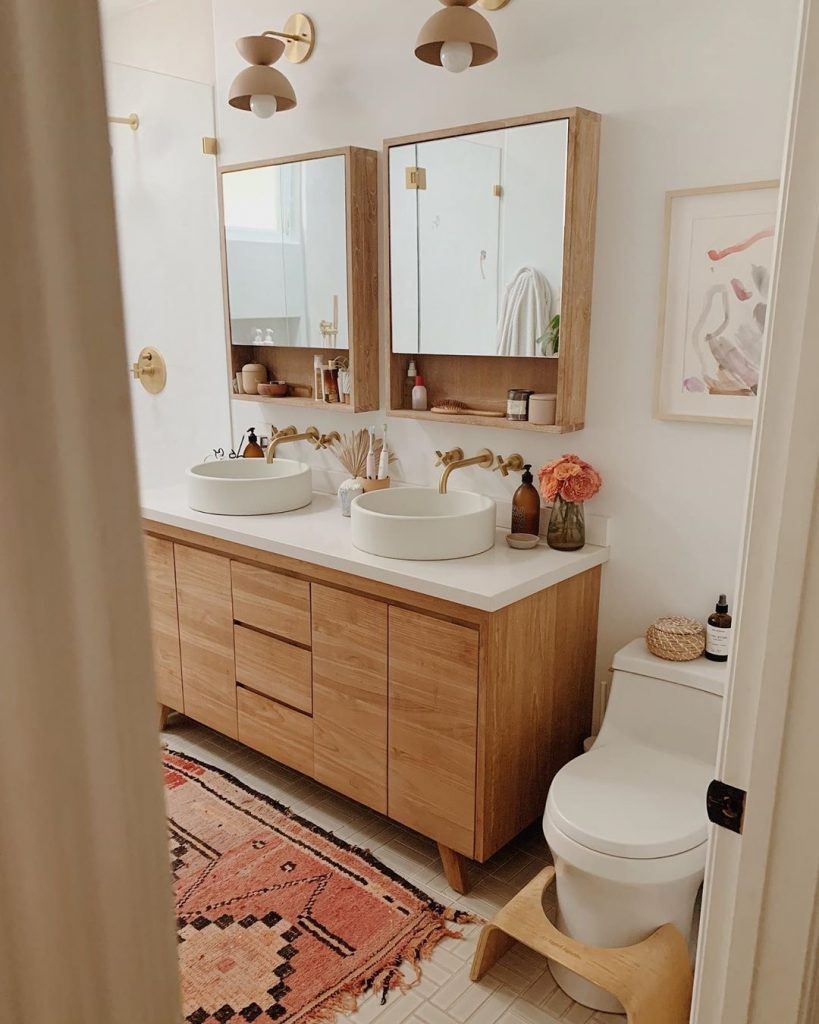 Image of a spa-inspired bathroom by @almostmakesperfect