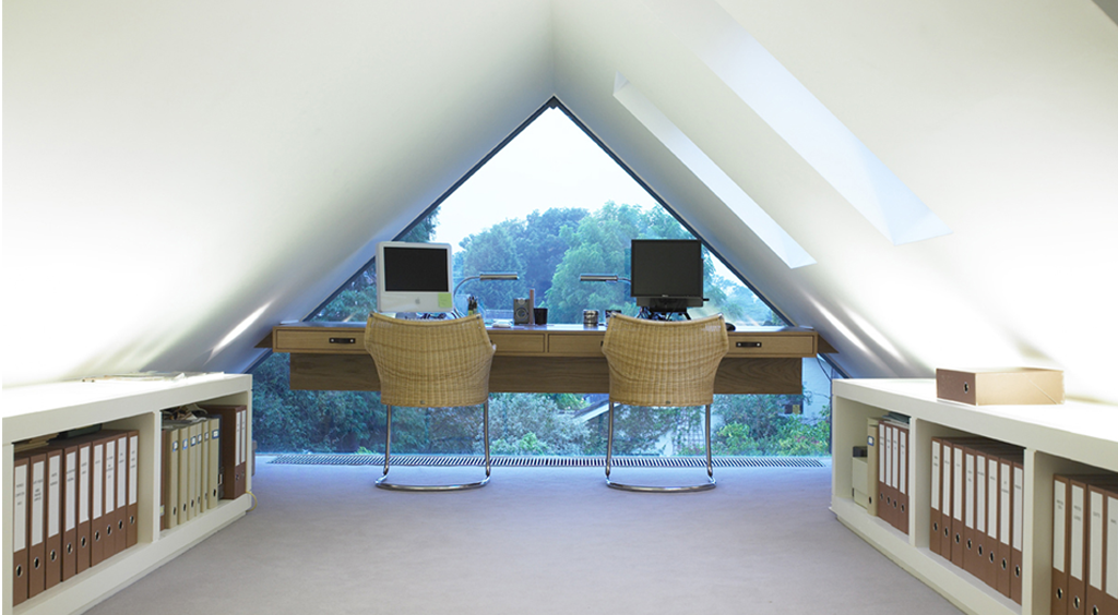 Image of a home office with John Cullen Lighting