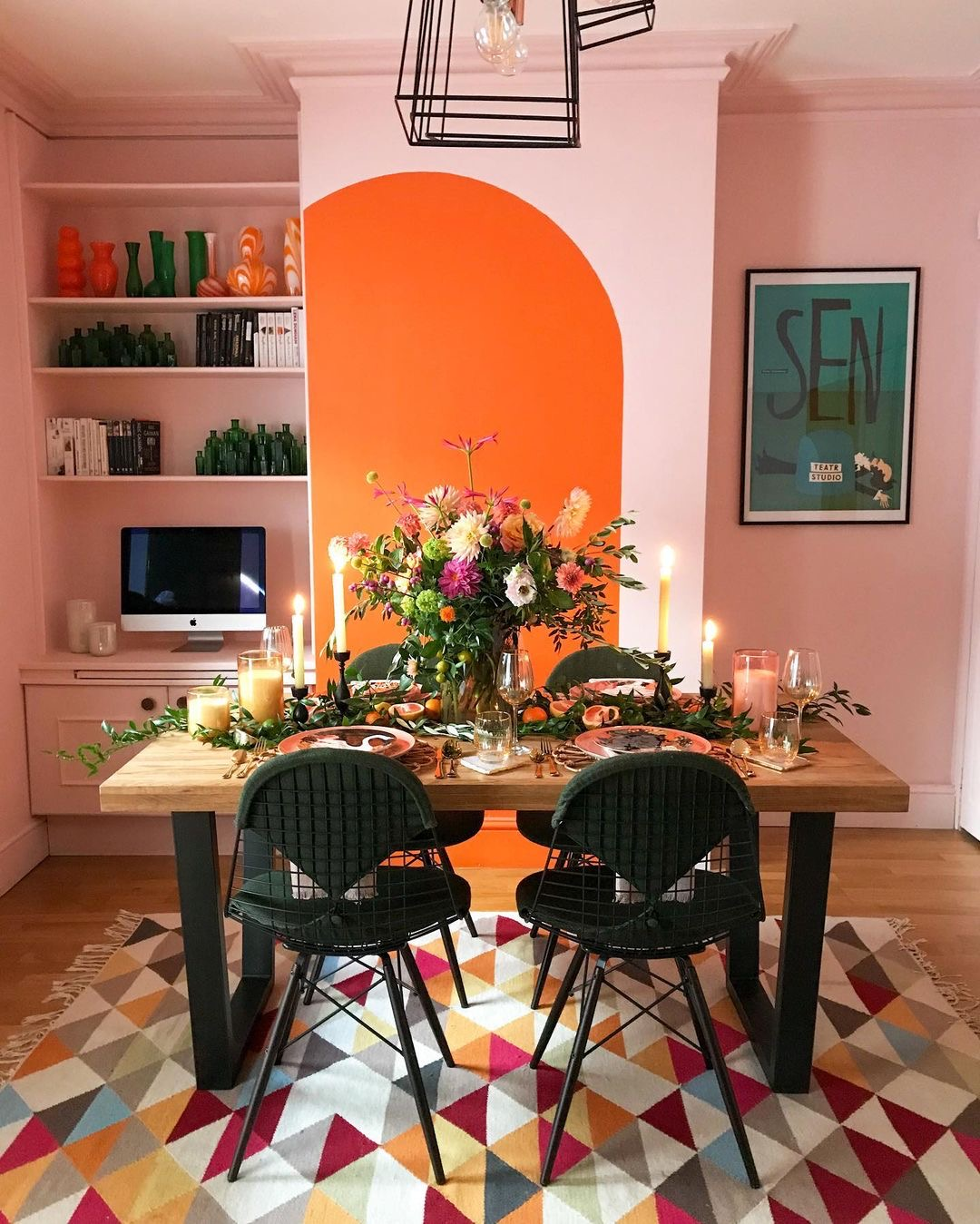 Image of a dressed dining table by @thistimeincolour