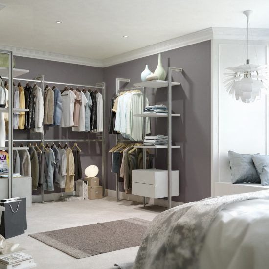 Image of a walk-in wardrobe from Spaceslide