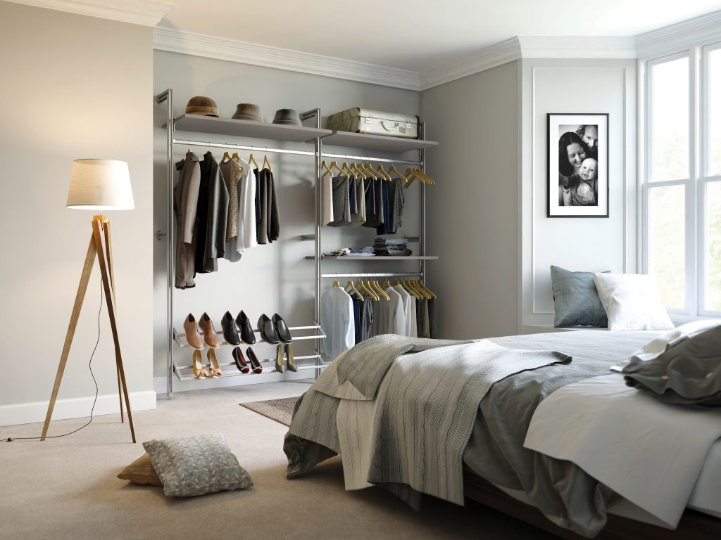 Image of a walk-in wardrobe by Spaceslide