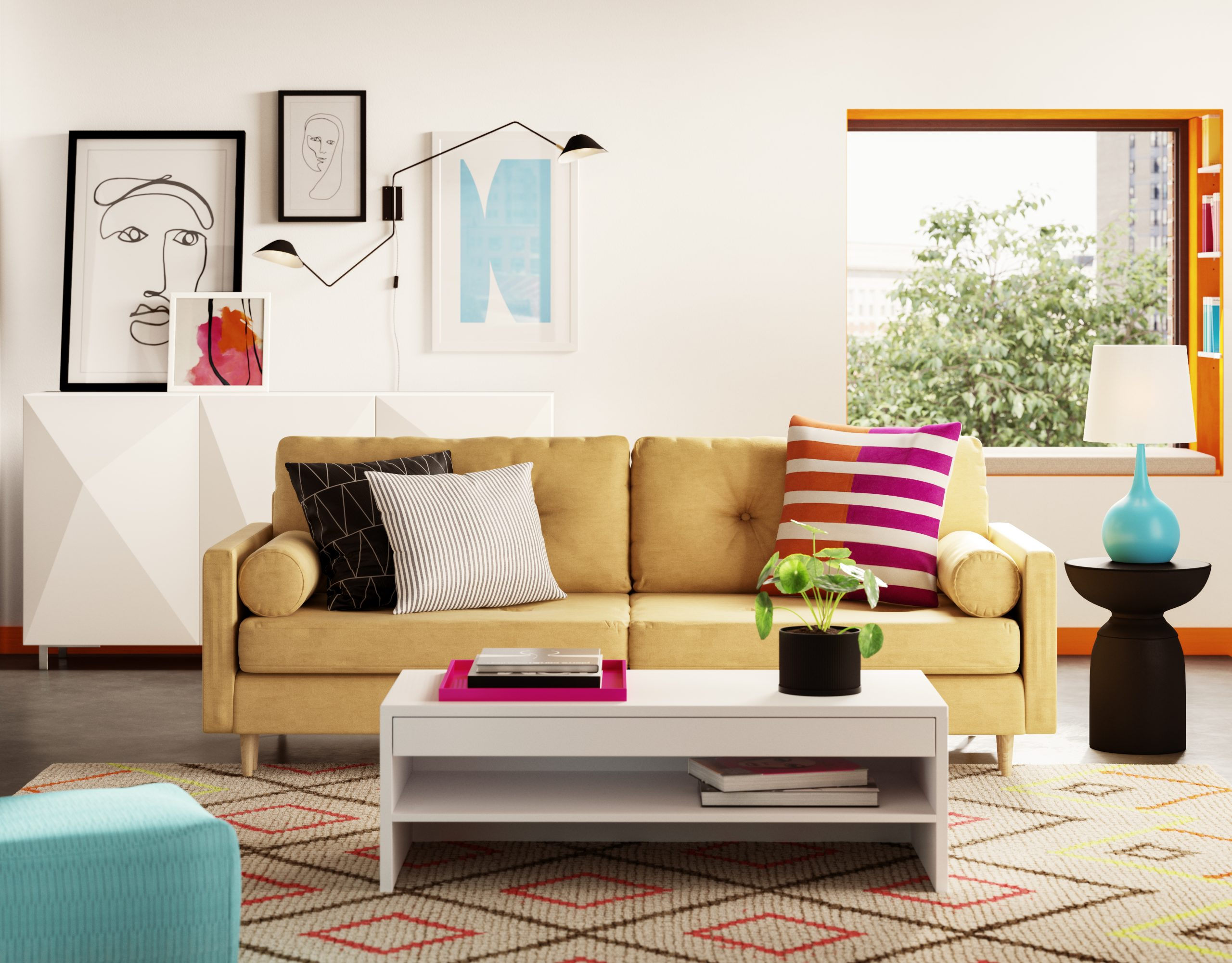 Image of a living room from Wayfair