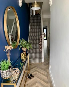 Image of the flooring in the hallway of @blossoms.of.hove.interiors