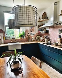 Wooden worktops shown in the kitchen of @at_home_at_170