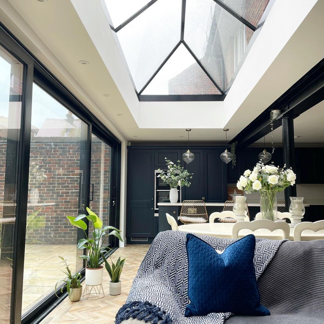 Image of a roof lantern roof light in the home of @staying_inn_southsea